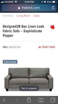 Modern sofa from the brick -3 seater