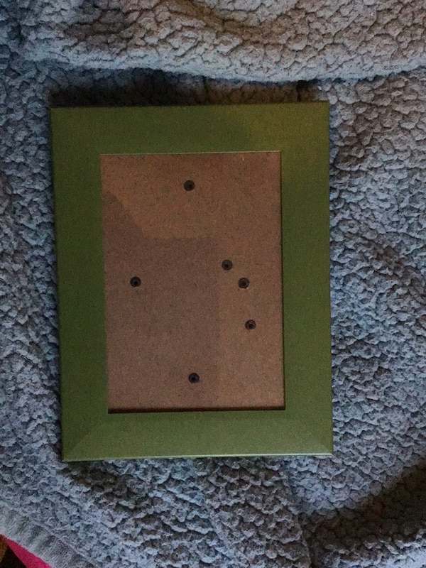 green and brown wooden photo frame