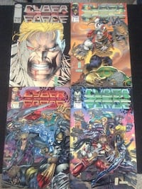 Four cyber force comic books Killeen, 76542