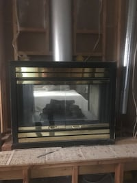 Gas double fireplace