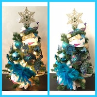 New 2 Ft. Prelit Turquoise Christmas Tree Farmers Branch, 75244