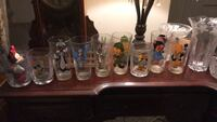 assorted color glass pitcher and drinking glasses Owings Mills, 21117