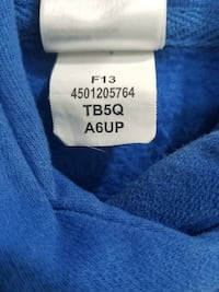 The North Face Blue Hoodie With White and Black Print SZ Large