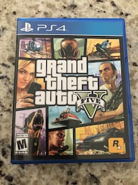 Grand Theft Auto Five PS4 game case Albuquerque, 87110