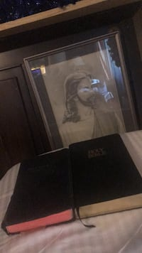 Two Bibles and picture of Jesus College Park, 20740