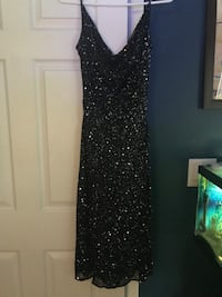 women's black spaghetti strap sequined dress size 6 or 8 West Melbourne, 32904