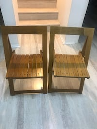 3 folding chairs solid wood. 3 for $25 Potomac, 20854