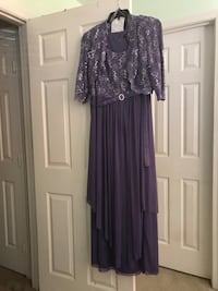 women's purple and black long sleeve dress Fairfax, 22030