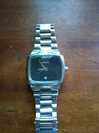 square silver analog watch with link bracelet West Covina, 91790