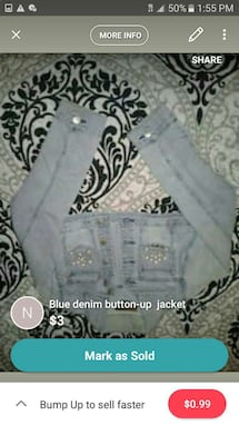 blue denim button-up jacket screenshot