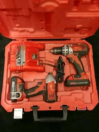 red and black Milwaukee cordless power drill with case Cambridge, N1R