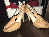pair of brown leather open-toe heeled sandals San Francisco, 94107