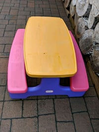 Kids picnic table and chairs