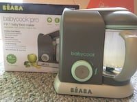 BEABA Babycook 4 in 1 Steam Cooker and Blender, 4.5 cups, Dishwasher Safe, Latte Mint (pickup only Great Falls VA) Rarely Used Great Falls, 22066