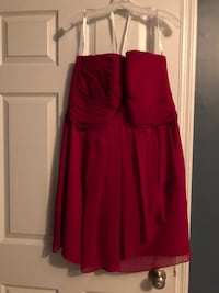 David's Bridal dress. Color is red. Only worn once. Size 14 Aiken, 29803