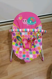 baby's pink and green bouncer 3729 km