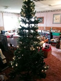 green Christmas tree with string lights Tulare, 93274