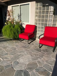 Two Metalcraft Club Rocker chairs with new cushions Sunbrella material Las Vegas, 89146