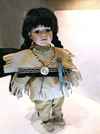 black haired female doll indian folk art w stand Roswell, 30075