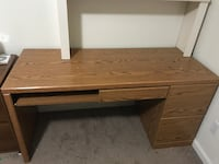 brown wooden single pedestal desk Tallahassee, 32304