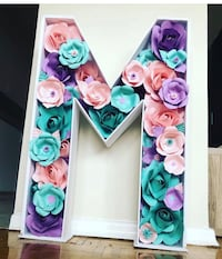 Letter  with handmade flowers