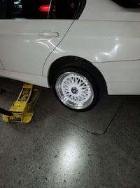 white bbs aftermarket rims 2 months new rim /tires Bronx, 10457