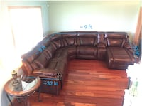 MOVING SALE — Ashley Furniture 6-piece, reclining sectional in Burnished Brown Leather Mount Vernon