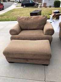 Love seat and big chair/ottoman. Free large sofa included.