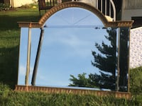 Huge gold gilded mirror, primitive tools,antique push lawn mower.. Sterling, 20164