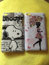 IPod touch 4 cases: Snoopy & girl with flower umbrella Vaughan