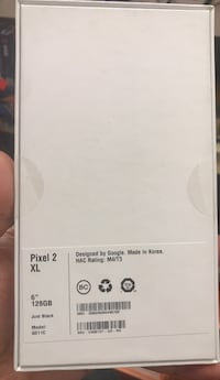 Google pixel 2xl 128gb never used its been in the box never open 791 km