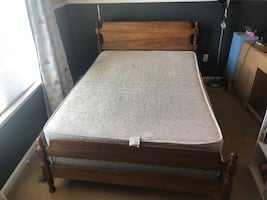 Full size bed - Mattress, Boxspring, and frame. Best Offer*