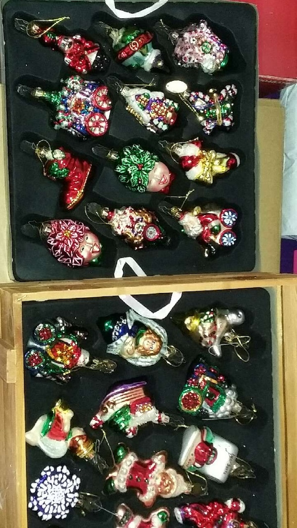 mark krauss glass christmas ornaments - Used Christmas Decorations For Sale