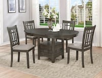 Hartwell Gray Extendable Oval Dining Set | 2195 Houston, 77036