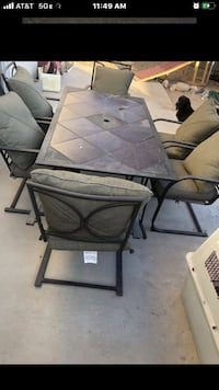 Table patio for summer set with chairs