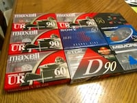 Maxell UR90 Sony TDK Memorex New Cassettes Tapes x9 Whitchurch-Stouffville, L4A 0J5