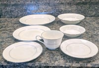 white ceramic plates and bowls Clinton, 44216