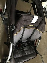 Baby's black and gray double stroller Surrey, V3T 0B8