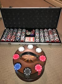 Texas Hold'em set. $25 each barely used OBO for both