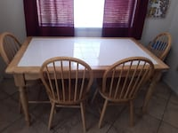 White Tile Table W/4 Chairs