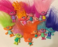 Colorful Trolls Mini Figurine Toys Temperature Color Changing Dolls Walkersville, 21793