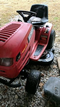 red and black Troy-Bilt riding mower