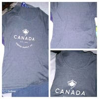 Ladies grey Canada Logo T-shirt London, N6H 1M9