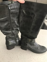 pair of black leather side-zip riding boots Mason, 48854