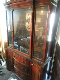 brown wooden framed glass display cabinet Aurora, 60506