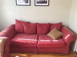 couch, armchair and ottoman