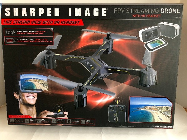 Fpv Streaming Drone W Vr Headset By Sharper Image Usagé à Vendre à