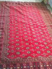 red and white floral area rug Kitchener