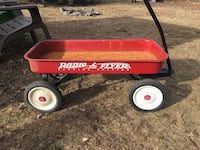 red and black Radio Flyer wagon