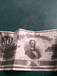 Confederate 50 dollar bill Sherman